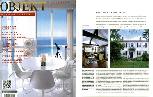 The Inn at Kent Falls in Object Magazine 2011